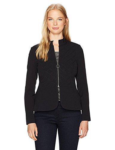 ドレスモロニックスケジュールXOXO Women's Quilted Peplum Jacket Black Medium [並行輸入品]