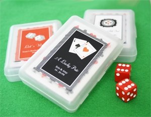Amazon.com: A Lucky Pair Vegas Themed Playing Cards - Baby Shower ...