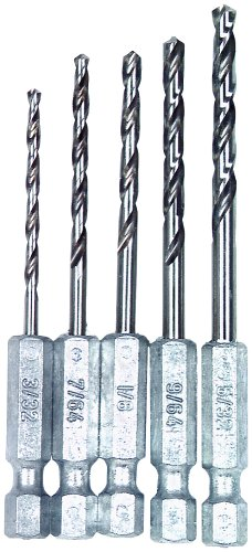 (Vermont American 13135 Quick Hex Shank Twist Drill Bit Assortment, 5-Piece)