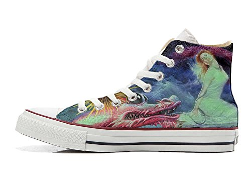Converse All Star Customized - zapatos personalizados (Producto Artesano) Fata Drago