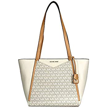 a6d2224fed9fe Amazon.com  Michael Kors Whitney Small Signature Logo Print Tote ...