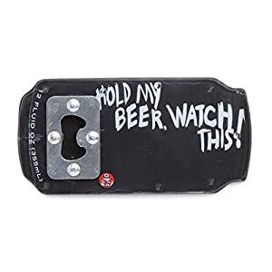 """One Ball Jay """"Hold My Beer"""" Bottle Opener Snowboard Stomp Pad"""