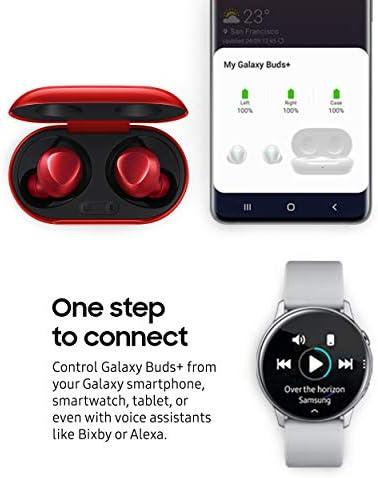 Samsung Galaxy Buds Plus, Auriculares inalámbricos con batería Mejorada y Calidad de Llamada (Estuche de Carga inalámbrica Incluido), Rojo - versión para EE. UU. 5