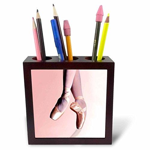 (3dRose ph_1277_1 Ballet Slippers Tile Pen Holder, 5-Inch)