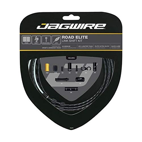 - Jagwire Road Elite Link Shift Cable Kit Black, One Size