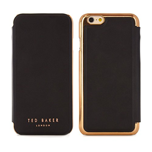 (Ted Baker 2016 Collection iPhone 6S / 6 Case, Official iPhone 6S Leather Wallet Cover with Rose Gold Finish, Professional Women's iPhone 6S Cover Fashion Case)