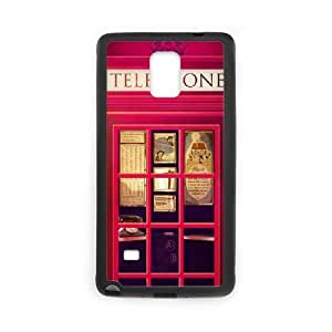 Head Case Designs Red Telephone Booth 0 Protective Snap-on Hard Back Case Cover Duos TPU Phone case cover for SamSung Galaxy Note4 black