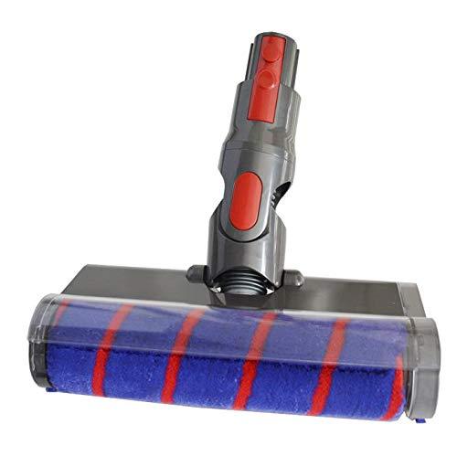 Carpet & Hard Floor Soft Fluffy roller Cleaner motor Head Motorized Brush Tool Parts Replacement for Dyson V7 V8 V10 V11 all models mattress trigger Top Dog Car boat(Soft roller -