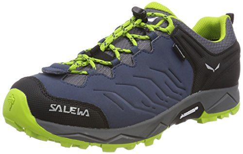 SALEWA Jr Mtn Trainer WP, Zapatillas de Senderismo Unisex Niños Azul (Dark Denim / Cactus 0361)