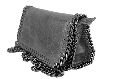 elegantina Gris à cuir cuir cuir cuir sac Plusieurs main sac sac cuir Sac cuir mixte bureau Clair italie sac Elegantina Coloris sac homme 8vqnd1w
