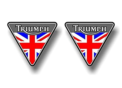 Amazon 2 Triumph Motorcycle British Flag 45 Triangle Vinyl