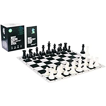 Best Chess Set Ever   Tournament Chess Pieces And Black Silicone Board