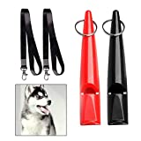 wotu 2 Pcs Professional Dog Whistles, Dog Training Whistles with Free Premium Quality Lanyard Strap
