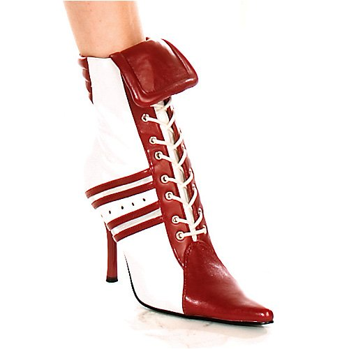 4.5 Inch Heel Ankle Boot Women's Size Shoe With Contrasting Referee Stripes (Referee Boots)