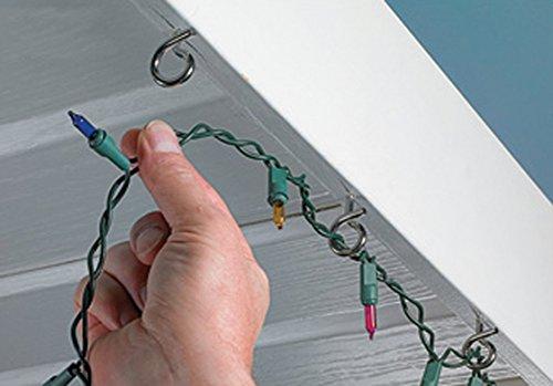 Christmas Light Hooks.Hangman Q Hanger Easy Release Outdoor Wire Christmas Light Hanger Stainless Steel Qh 36