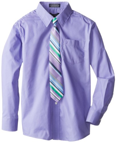 Nautica Dress Up Boys 8-20 Packaged Shirt Sets with Tie, Mid Purple, 10