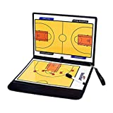 Lorsoul Basketball Football Tactical Board Foldable Strategy Teaching Clipboard with Pen Tactics Kit