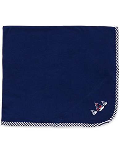 Little Me Baby Boys' Sailboats Blanket, Navy, One Size