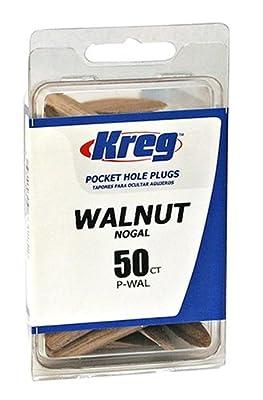 Kreg P-WAL Walnut Plugs for Pockets (50-Pack) by Kreg