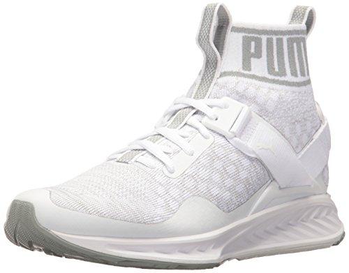 puma-mens-ignite-evoknit-cross-trainer-shoe-puma-white-quarry-vaporous-gray-45-m-us