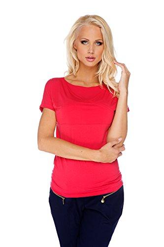 My Tummy Maternité tee-shirt pour l'allaitement rouge