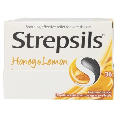 Strepsils Honey & Lemon 24 Lozenges. 1 pcs Thailand