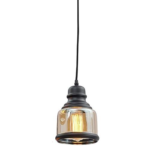Amazon.com: Lámpara colgante de cristal transparente para ...