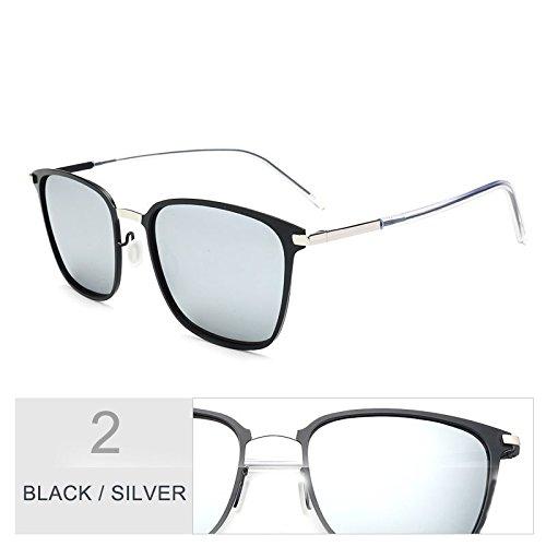 conducción Silver TL Square gris Classic Negro Black gafas luces Oro ultra Sunglasses delgado sesgados para de de de hombres gafas sol Zqq4RxnrF
