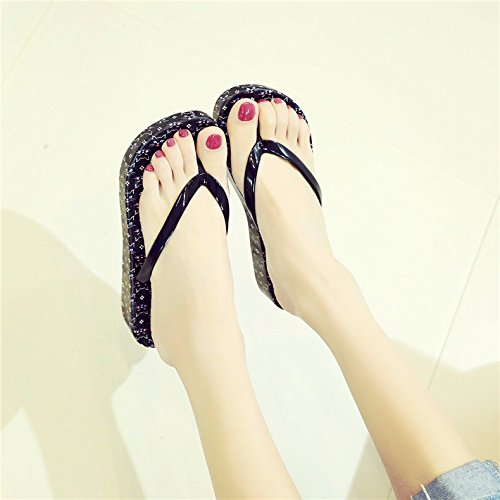 skid the bottom thick cool XIAOGEGE Black the slippers The new the flip the slope flops Korean version summer and of vnC4a