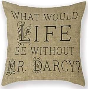 Astephanie Various Cotton Pillow Covers Charaterizing Jane Austen Austen Librarian Literature