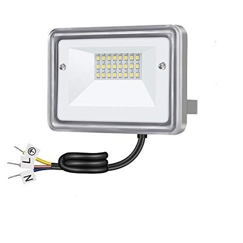 10W LED Flood Light, STASUN 950lm Outdoor Security Lights, 100W Equivalent. 6000K Daylight, IP66 Waterproof, Great for Yard, Driveway, Garden