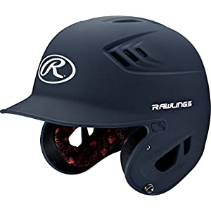 Rawlings R16 Series Matte Batting Helmet, Navy, Senior