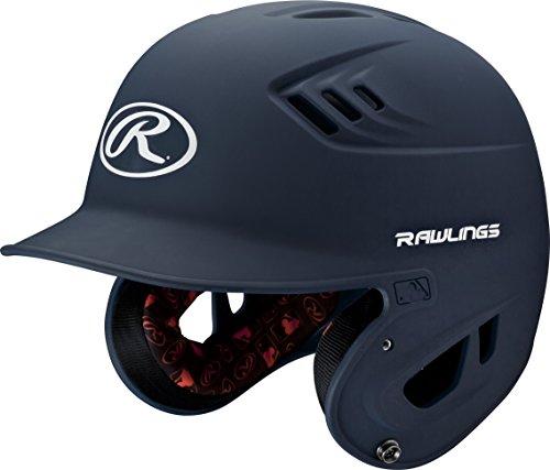 Rawlings R16 Series Matte Batting Helmet, Navy, Senior ()