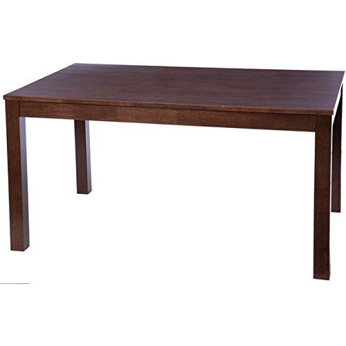 Modern Solid Rubberwood Rectangular Wenge Brown Dining Table (Dining Table Set Wenge)