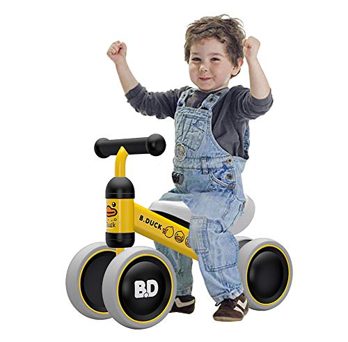 Ancaixin Baby Balance Bikes Bicycle Children Walker 10 Month - 24 Months Toys for 1 Year Old No Pedal Infant 4 Wheels Toddler Top First Birthday New Year Gift Yellow Duck