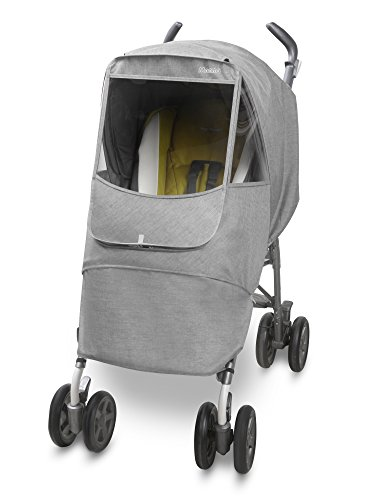Manito Melange Alpha Stroller Weather Shield (Light Grey) ()