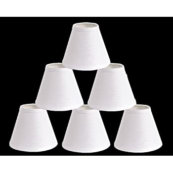 Urbanest Pure Linen Chandelier Lamp Shades, 6-inch, Hardback Clip ...
