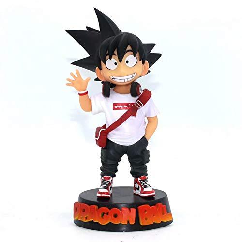 JINZDUO Anime 1/8 Scale Painted Figure Dragon Ball Fashion Greeting Version Son Goku Statue Action Pvc Figure Statue Toys