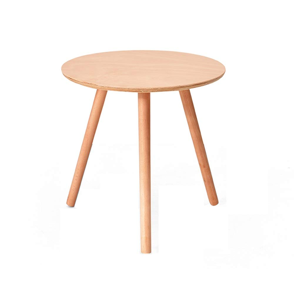 LJHA bianzhuo End Table, Wooden Round Table Small Coffee Table Sofa Side Cabinet Snack Table Suitable for Family, Living Room, Office, 2 Colors. Bedside Tables (Color : B, Size : 40CM) by GYH End Table