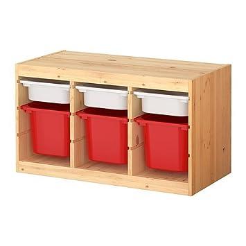 IKEA TROFAST -Lagerung Kombination mit MehrfarbenkästenKiefer ...
