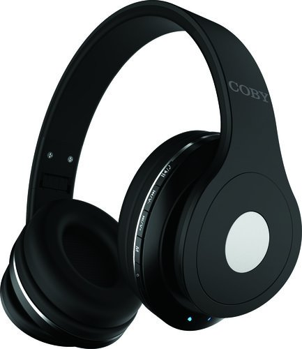 Coby Bluetooth Headphones w/Mic, Black