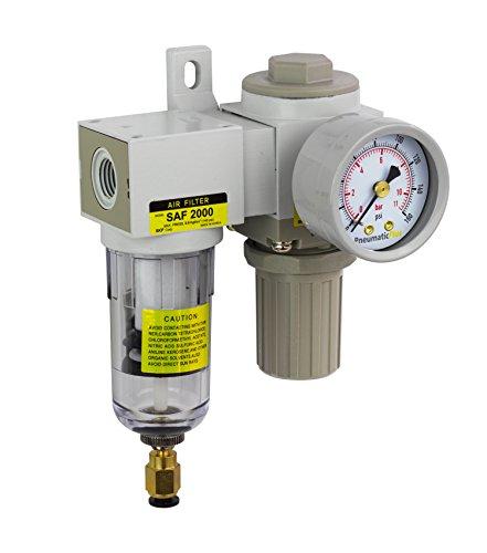 PneumaticPlus SAU2020M-N02DG Mini Air Filter Regulator Combo 1/4