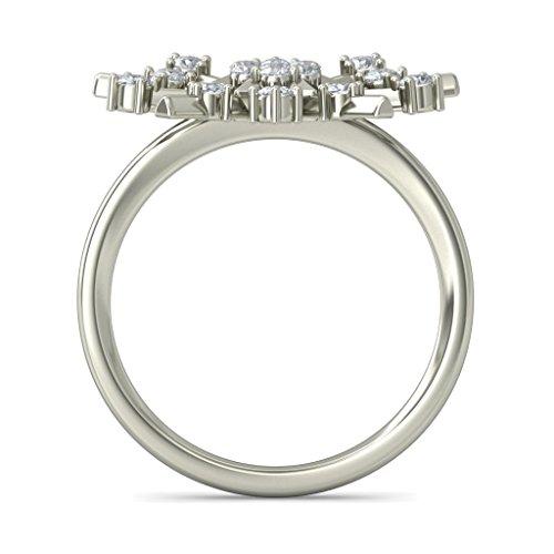 14K Or blanc, 0,43carat Diamant Taille ronde (IJ | SI) en diamant