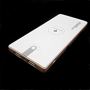 DTECH Qi Wireless Power Bank 8000mAh Portable Wireless Charger Power Bank 2 in 1 Fast Charging for Qi Devices iPhone 6 /6s Plus Samsung Galaxy S5/S6/S7 Edge Note5,IPHONE (White)