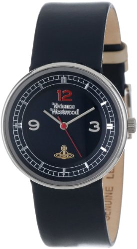 Vivienne Westwood Unisex VV020DBL Spirit Swiss Quartz Blue Leather Strap Watch