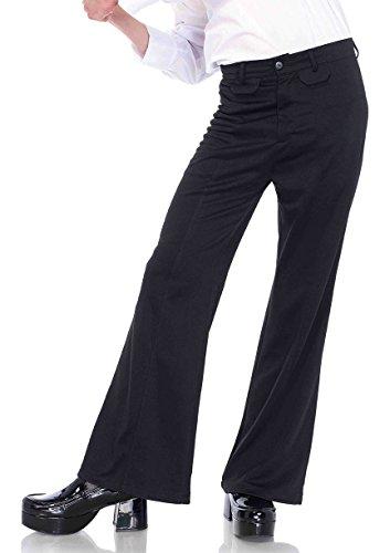Leg Avenue Men's Bell Bottom Disco 70s Pants, black X-Large
