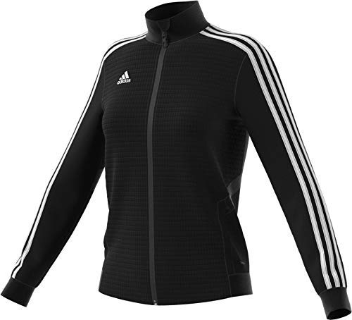 adidas Women's Tiro19 Training Jacket, Small,Black/Black/White D95929
