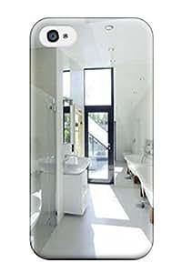 High Grade Robert J Murphy Flexible Tpu Case For Iphone 4/4s - Eco Friendly Minimalist House