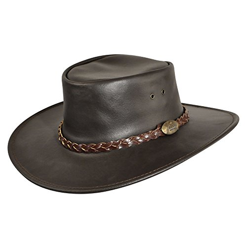 (Jacaru Men Swagman Outback Hat Brown L)