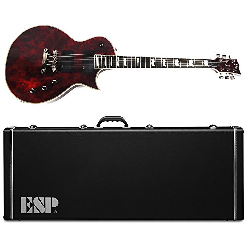 ESP LTD EC-1000 Volcano Red Electric Guitar with EMG Pickups and Hardshell Case Gear Orphanage Exclusive (Esp Ltd Ec 1000 Deluxe Vintage Black)
